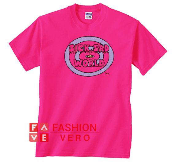 Sick Sad World Hot Pink Color Unisex adult T shirt