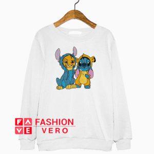 Stitch and Simba are best friends Sweatshirt