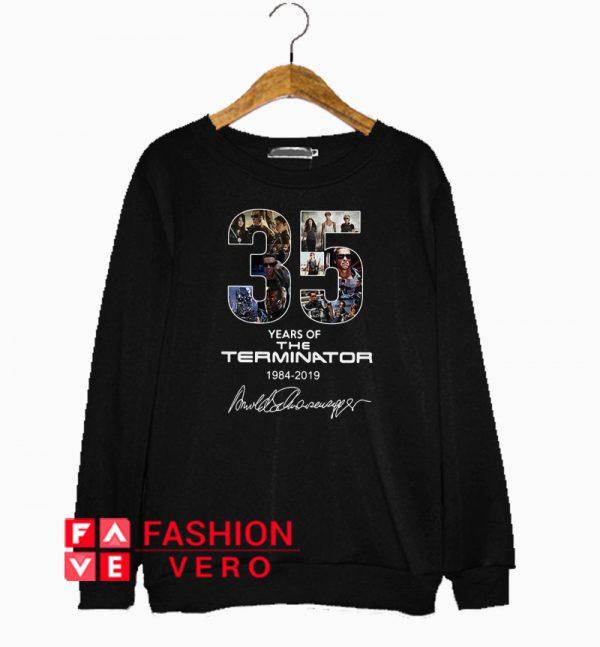 35 years of the Terminator 1984 2019 signature Sweatshirt