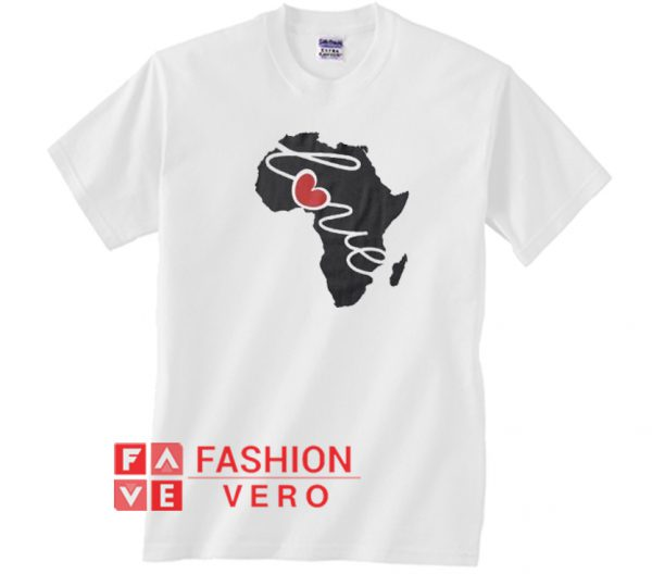 Africa Love Silhouette Heart Unisex adult T shirt