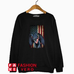 Night Fury American flag Independence day Sweatshirt
