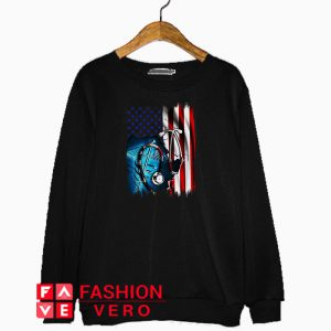 Nurse symbol American flag Independence day Sweatshirt