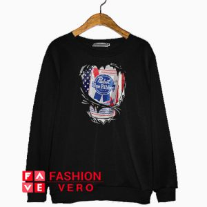 Pabst Blue Ribbon inside me Independence day Sweatshirt