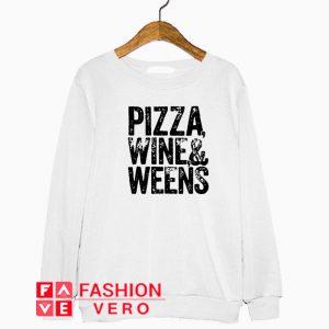 Pizza wine and weens American Doxie Sweatshirt