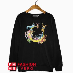 Pokemons character in moon Sweatshirt