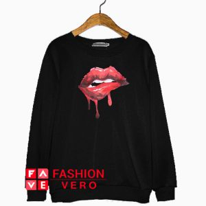 Red Lips Melted Sweatshirt