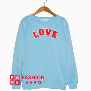 Red Love Font Sweatshirt