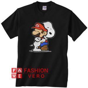 Snoopy hug Mario Unisex adult T shirt