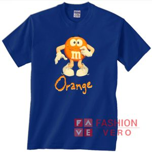 00s Orange M&M's Unisex adult T shirt