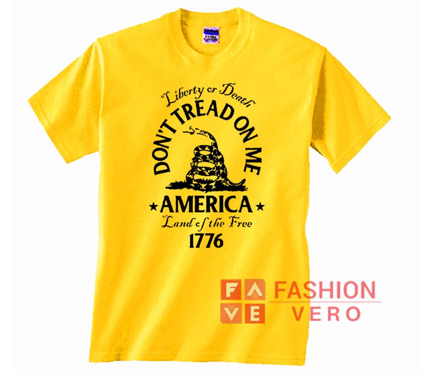 Gadsden Flag America Land Of The Free 1776 Unisex adult T shirt