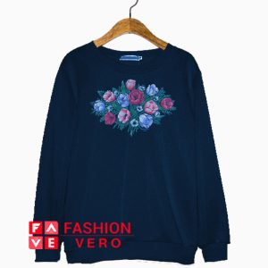 Print Flower Bucket Sweatshirt