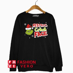 Resting Grinch Face Head Sweatshirt