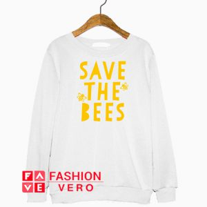 Save the Bees Yelllow Logo Sweatshirt