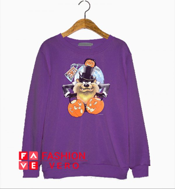 Taz Dracula Halloween Pumpkin Sweatshirt