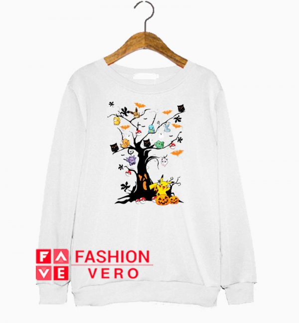 Pokemon character on the tree Halloween Sweatshirt