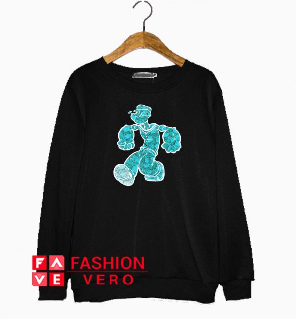 Popeye Cartoon Spinach Sweatshirt