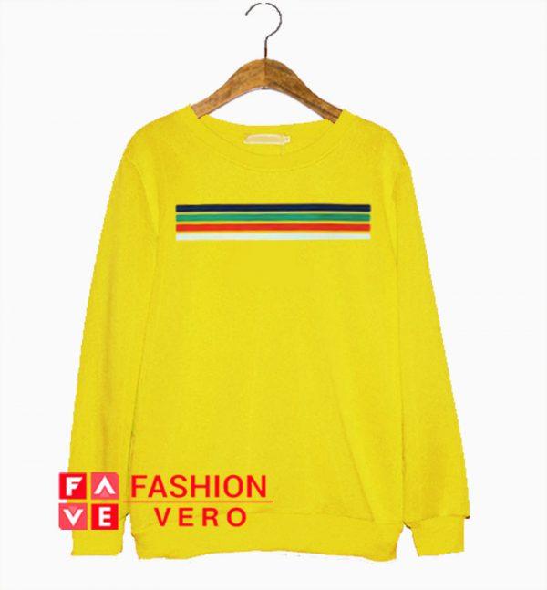 Rainbow Striped Sweatshirt