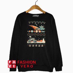 8-bit Space Christmas Sweatshirt
