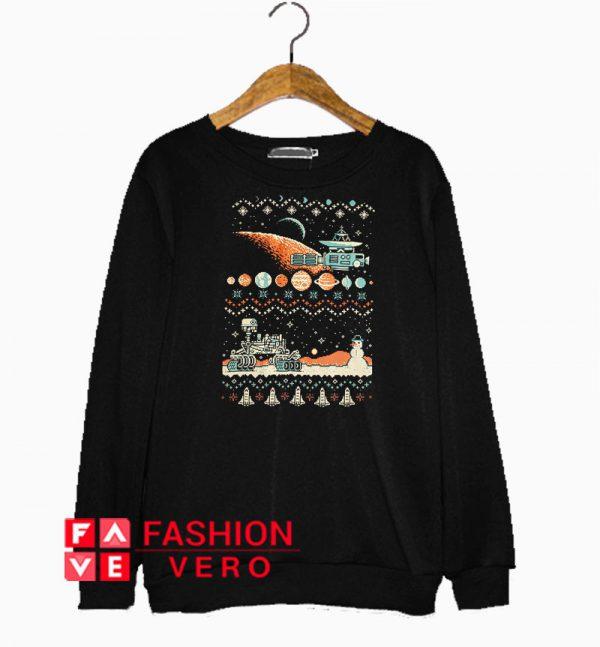 8 bit Space Christmas Sweatshirt