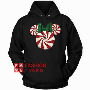 Minnie Mouse Christmas Peppermint Hoodie - Unisex Adult Clothing