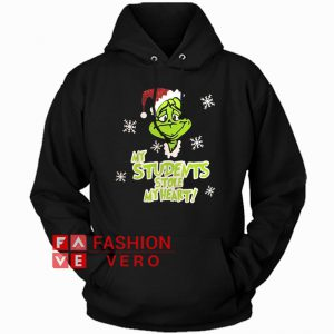 My Students Stole My Heart Grinch Christmas Hoodie - Unisex Adult Clothing