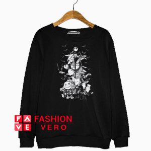 Nightmare Christmas Characters Sketch Sweatshirt