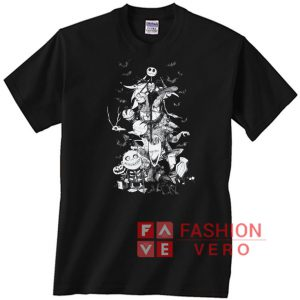 Nightmare Christmas Characters Sketch Unisex adult T shirt