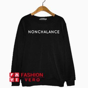 Nonchalance White Logo Sweatshirt