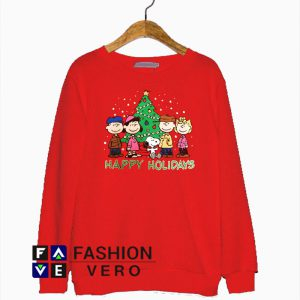 Peanuts Snoopy Happy Holiday Christmas Sweatshirt