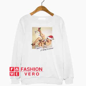 Photographic Merry Fucking Christmas Sweatshirt