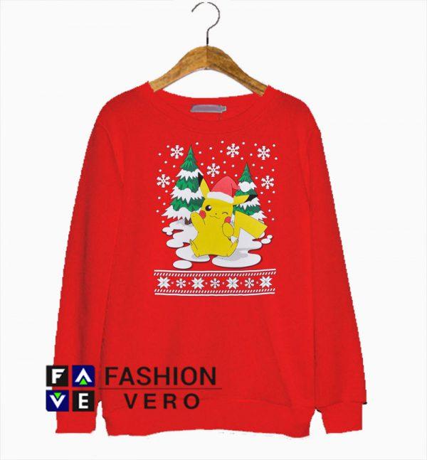 Pokemon Pikachu Christmas Sweatshirt