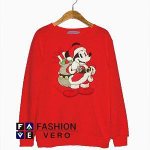 Santa Claus Mickey Mouse Disney Sweatshirt