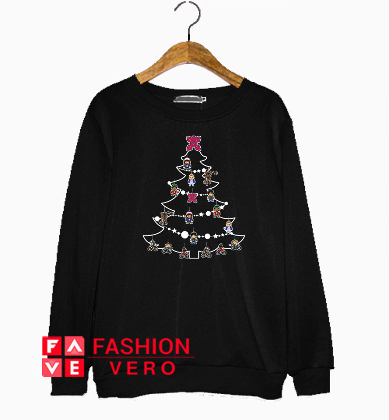 Stranger Things Christmas Sweater.Stranger Things Christmas Tree Baubles Sweatshirt