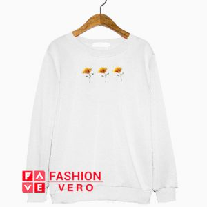 Three Yellow Poppy Flowers Sweatshirt