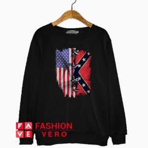 American And Confederate Flag Sweatshirt
