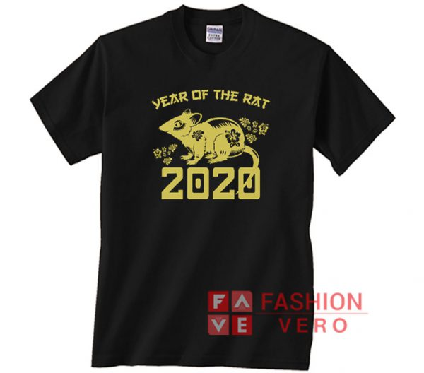 Chinese Zodiac Year Of The Rat 2020 Unisex adult T shirt