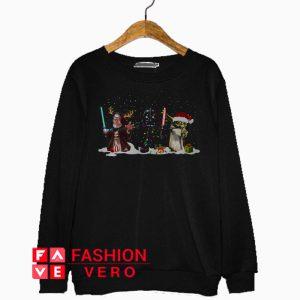 Obi Wan Kenobi Darth Vader Yoda Christmas Sweatshirt