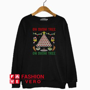 Oh Sushi tree Christmas Sweatshirt