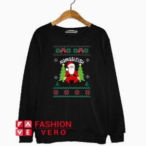 Santa Yoga Christmas Namasleigh Sweatshirt