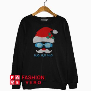 Swimming Santa Claus H2O Christmas Sweatshirt