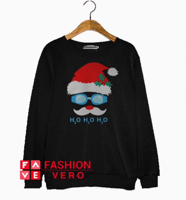 Swimming Santa Claus H2O Christmas Sweatshirt