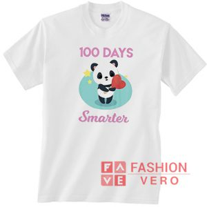 100 days smarter Panda Love Unisex adult T shirt