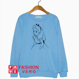 Alice In Wonderland Line Draw Sweatshirt