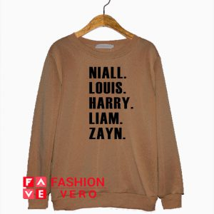 Niall Louis Harry Liam Zayn Sweatshirt