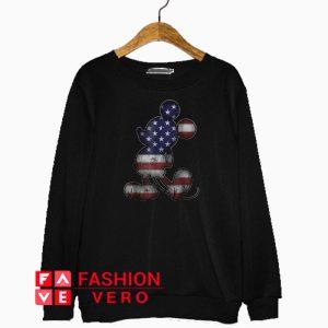 Americana 4th Of July Mickey Mouse Sweatshirt