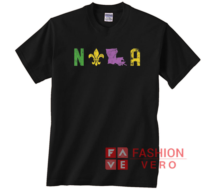 Adult** Louisiana Mardi Gras T-shirt