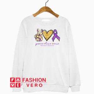 Peace Love Cure Alzheimer's Awareness Sweatshirt