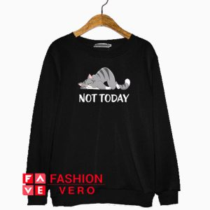 Not Today Crazy Cat Sweatshirt