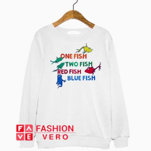 One Fish Two Fish Draw Art Sweatshirt