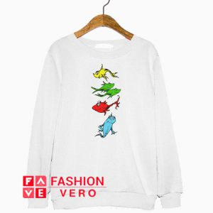One Fish Two Fish Red Fish Blue Fish Sweatshirt